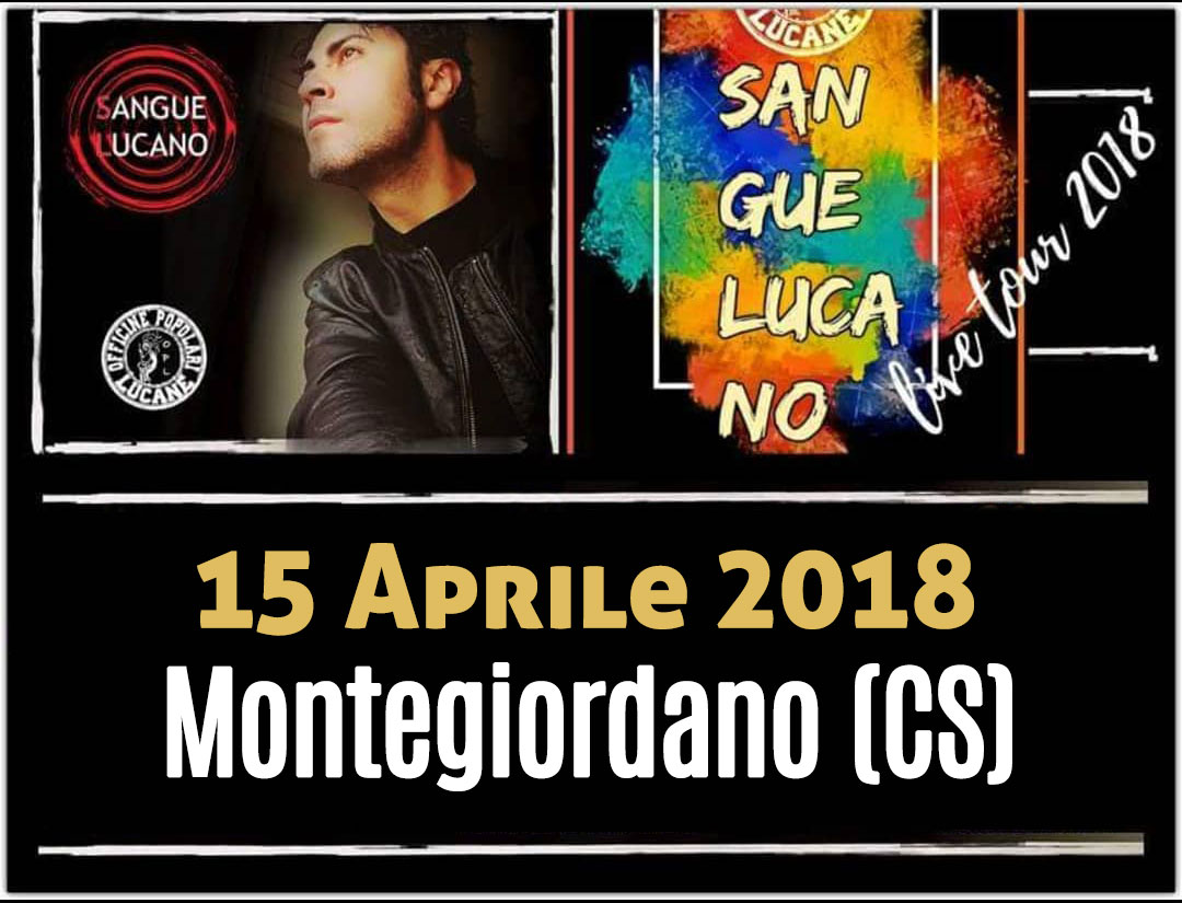 Sangue Lucano - Live Tour 2018 Pietro Cirillo 15-apr-2018