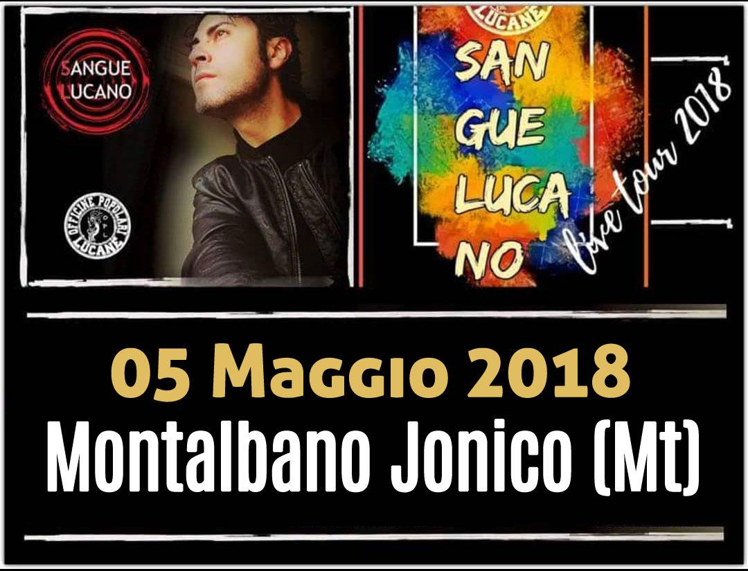 Sangue Lucano - Live Tour 2018 Pietro Cirillo 05-mag-2018