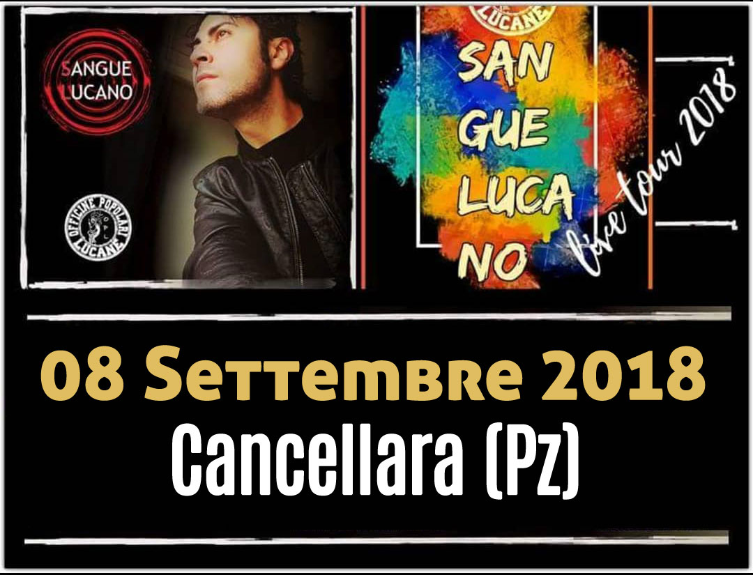 Sangue Lucano - Live Tour 2018 Pietro Cirillo 08-set-2018