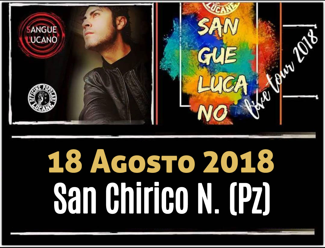 Sangue Lucano - Live Tour 2018 Pietro Cirillo 18-ago-2018